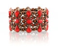 Red gemstone bracelet Stock Photography