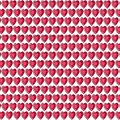 Red gemstone heart background pattern on white Royalty Free Stock Photo