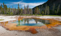 Red geyser pool Royalty Free Stock Photo