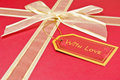 Red gift with bow Royalty Free Stock Photo