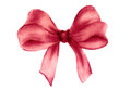 Red gift bow. Watercolor drawing