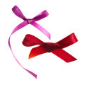 Red gift bow on white Royalty Free Stock Photo