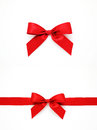 Red gift bows and ribbon Royalty Free Stock Photo