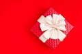 Red gift little on background Royalty Free Stock Photo