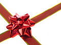Red gift ribbon and bow Royalty Free Stock Image