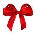 Red gift, ribbon, bow Stock Images