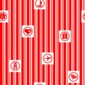 Red gift wrap Royalty Free Stock Photography