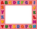 Red Gingham Alphabet Frame Royalty Free Stock Photography