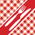 Red Gingham Menu Card Royalty Free Stock Photos