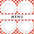 Red Gingham Menu Card Cover Royalty Free Stock Images