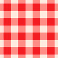 Red gingham pattern seamlessly tileable and white checkered Stock Photos