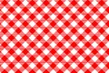 Red Gingham Pattern. Texture F...