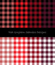Red Gingham Seamless Designs
