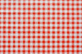 Red gingham tablecoth background tablecloth often found in diners and cafes a popular traditional covering for tables where food Stock Image