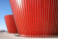 Red glass building Royalty Free Stock Photo