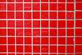 Red glazed tile Royalty Free Stock Photo