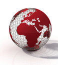 Red globe Royalty Free Stock Photo