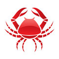 Red glossy crab Royalty Free Stock Image