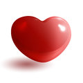 Red glossy heart d on white background Royalty Free Stock Photos