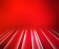 Red glowing stripes stage background Royalty Free Stock Photo