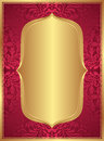 Red gold background with copy space Stock Images