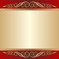 Red and gold background with ornaments Stock Photo