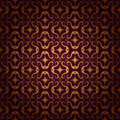 Red and gold background seamless pattern Stock Photo