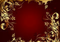 Red-gold background, vector illustration Royalty Free Stock Images