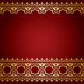 Red and gold vector background with vintage border Royalty Free Stock Photo