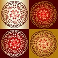 Red Gold Chine Ornament Royalty Free Stock Photography