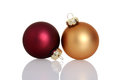 Red And Gold Christmas Ball Or...