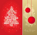 Red and gold christmas card Royalty Free Stock Photo