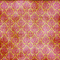 Red On Gold Damask Seamless Royalty Free Stock Photo