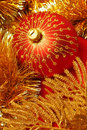 Red and gold decorations Stock Photography