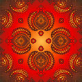 Red-gold east pattern Royalty Free Stock Images