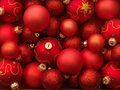 Red and Gold Holiday Ornaments Royalty Free Stock Photo