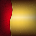 Red and gold metallic background with cracks Royalty Free Stock Photo