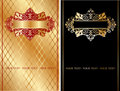 Red And Gold Ornate Banner. Royalty Free Stock Photography