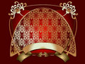 Red Gold Ornate Banner Royalty Free Stock Photos