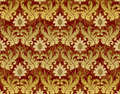 Red and gold renaissance background Royalty Free Stock Image