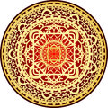 Red & gold rug Royalty Free Stock Images