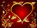 Red and Gold Valentines Vector Royalty Free Stock Photo