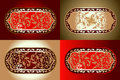 Red Gold Various  Ornament Royalty Free Stock Photography