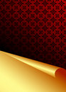 Red and gold vector background Royalty Free Stock Photo