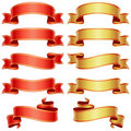 Red and golden banners Royalty Free Stock Photo