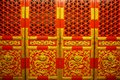 Red and golden Chinese royal doors