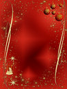 Red and golden elegant Christmas decoration Royalty Free Stock Photos