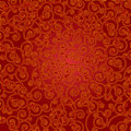Red and golden scroll background ornate Royalty Free Stock Photo