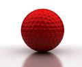 Red Golf Ball Royalty Free Stock Photo