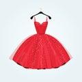 Red  Gorgeous Party Dress. Vec...
